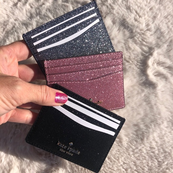 Kate spade glitter card holder GIFT BOX